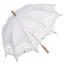 3 Colors Victorian Lace Wedding Sun Parasol Umbrella for Bridal Photo Decoration