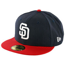 New Era 59Fifty San Diego Padres Fitted Hat (Dark Navy/White-Red) Men's MLB Cap