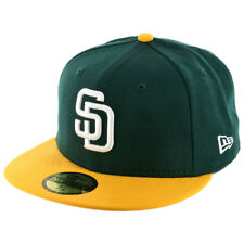 New Era 59Fifty San Diego Padres Fitted Hat (Dark Green/White-Gold) Mens MLB Cap