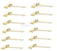 12Pcs Clasp Clips Ends Crimp Cord Extension Chain Clasp Set DIY Findings Craft