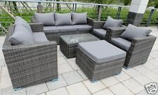 8 SEATER NEW RATTAN GARDEN FURNITURE SET SOFA TABLE CHAIRS - PATIO CONSERVATORY