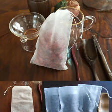 Practical 100Pcs Empty Draw String Nonwoven Fabric Disposable  Loose Tea Bags