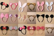 PARTY / FANCY DRESS / ANIMAL EARS / BOW ALICE BANDS : CHOOSE : PACK OF 3 / 6