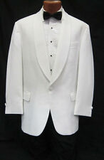 35R White Shawl Tuxedo Dinner Jacket Pants Bow Tie Prom Package Spring Formal
