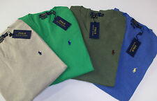 Polo Ralph Lauren V-Neck Pima Cotton Sweater Vest $98  4 Colors W/ Polo Pony NWT