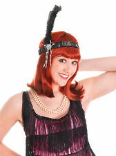 Black, Red, White, or Pink Flapper Headband 1920's Gatsby  Headwear Fancydress