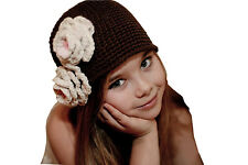 Girl New Kid Toddler Baby Handmade Crochet Knit Flower Hat Cap Beanie Photo Prop
