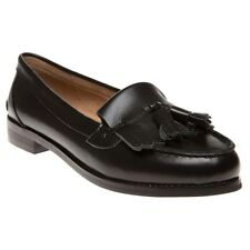 New Womens SOLE Black Egret Leather Shoes Loafers And Slip Ons On