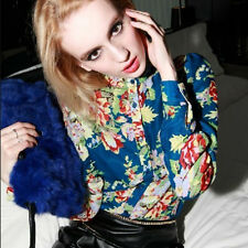 Spring Womens Colorful Chiffon Blouse Shirt Tops Thin Long Sleeve Floral Prints