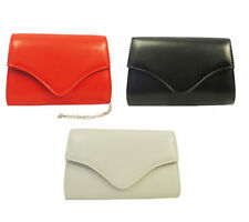Retro Vintage style Classic 1940's 50's Red Black White Leather look Clutch Bag