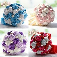 Silk Posy Roses Flowers Party Wedding Bridal Bridesmaid Stain Flower Bouquets