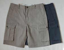 NEW Levis Mens Cargo Relaxed Fit Khaki Gray Denim Shorts Many Sizes