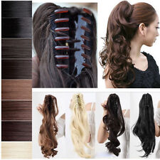 Mega Thick Ponytail Hair Extension Claw Clip in/on Hairpiece Long Curly Wavy G13