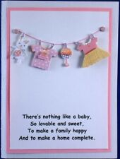 Hand Made Greeting Card, BABY - LARGE