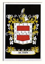 ACTON Family Coat of Arms Crest - Choice of Mount or Framed
