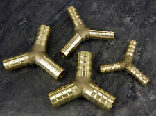 Brass 'Y' Hose Joiner Barbed Splitter Connector Air Fuel Water Pipe Gas Tubing