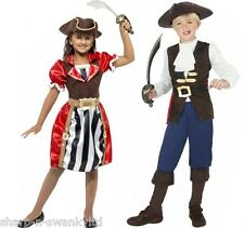 Boys Girls Kids Pirate Captain Party Dress Up Fancy Dress Costume Outfit 4-12yrs