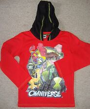 BOYS BEN 10 RED HOODED LONG SLEEVE TOP FROM DUCK AND DODGE AT BHS BNWOT