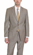 Michael Kors Modern Fit Taupe Textured Wool Suit
