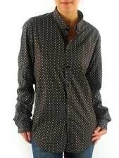 merc Blouse Longsleeve blouse Shirt Indie brown dots Long sleeve Collar