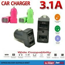 Universal USB car charger 2-Port Dual Adapter 12V 3.1A For Samsung iPhone 5 6 6s