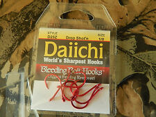 D25Z DAIICHI DROP SHOT'N NOSE HOOK, BLEEDING BAIT Finish 1/0,1 ,2, 4 Select Size