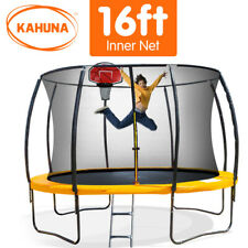 16ft Round Spring Trampoline Free Safety Net Pad Cover Mat Ladder Basketball Set