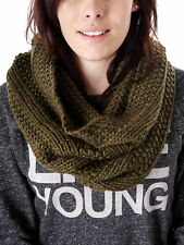 Samaya Winter scarf Loop Knit Scarf olive green soft knitted Wool