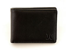 Hurley Wallet Portemonnaie Executive Bifold black plain Logo