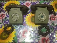 VINTAGE OLD GREEN TELEPHONE ART DECO antique OLD ROTARY DIALLER