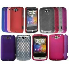 Silicone Hydro Gel TPU Circle Hard Hybrid Back Case Cover For HTC WILDFIRE G8