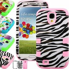 Heavy Duty Armour Shock Proof Hard Combo Silicone Case Cover For Galaxy S4 i9500