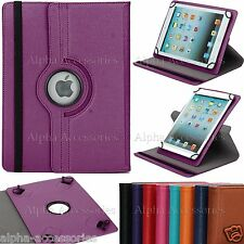 """Universal PU Leather 360 Rotating Stand Case For 7"""" 7 Inch Tab Android Tablet PC"""