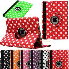 360 Degree Rotatable Polka Leather Stand Case Cover For iPad 5 / iPad Air 2013