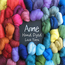 Anne Lace Yarn super soft 70% Baby Alpaca 30% Silk USA Hand Dyed 1oz 185yds 2ply