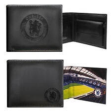 Chelsea FC Official Football Gift Embossed Crest Wallet Black