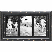 Prinz Three Opening Carson Distressed Wood Picture Frame