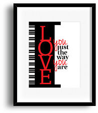 BILLY JOEL JUST THE WAY YOU ARE Music Poster Song Lyric Art (CANVAS PRINTS SIGN)