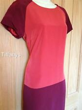 KAREN MILLEN RED COLOUR BLOCK SHIFT DRESS BNWT UK 10,
