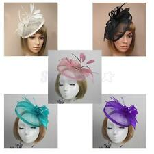 Wedding Hat Party Headpiece Hair Fascinator Flower Alice Band Feather Headband