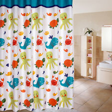 Lovely Dolphin Fish Ocean Sea Theme Bath Waterproof Fabric Shower Curtain 180cm