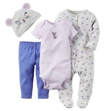 New Carter's 4 Piece Layette Set Sweet Mouse Sleep n Play NWT Newborn 3m 6m 9m