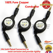 3.5mm Car Aux Auxiliary Cord Stereo Audio Retractable Cable for Phone iPod MP3