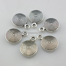 20/80/600pcs Tibetan Silver Tree-ring Charms Pendants 8.2x11mm  (Lead-free)