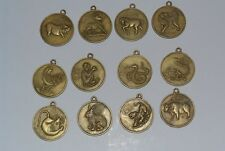 Chinese 12 Zodiac Horoscope Collectible Feng-Shui Lucky Coin WITH HOOK SEE PHOTO