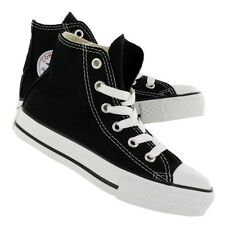 New! Kids Youth Chuck Taylor Converse Hi Top in Black All Star Shoes F6 G6