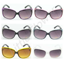 New DG Womens Designer Fashion Square Eyewear Rhinestones Sunglasses Shades 362