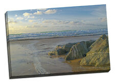 Watergate bay canvas print cornwall newquay framed picture seaside beach waves