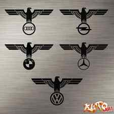 Reichsadler German Army Eagle Iron Cross Car Decal Sticker WWII German Auto