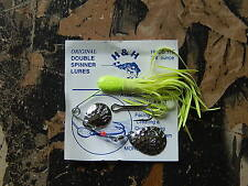 """H&H The Original Double Spinner """"King Of The Spinner Lures"""" 3/8 oz. Select Color"""